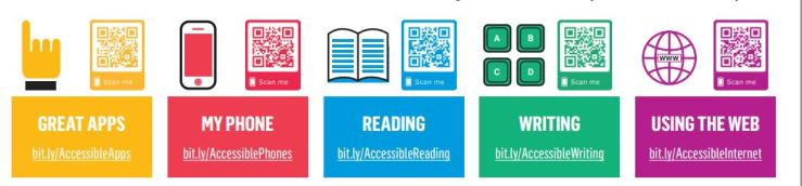 Image showing the 5 themes for the accessibility resources.