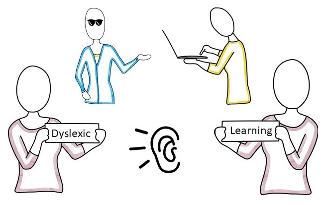 invisible disabilities: learning, dyslexia, motor and sensory impairment.